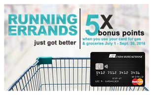 5X Rewards on Gas & Groceries July 1 through September 30, 2016